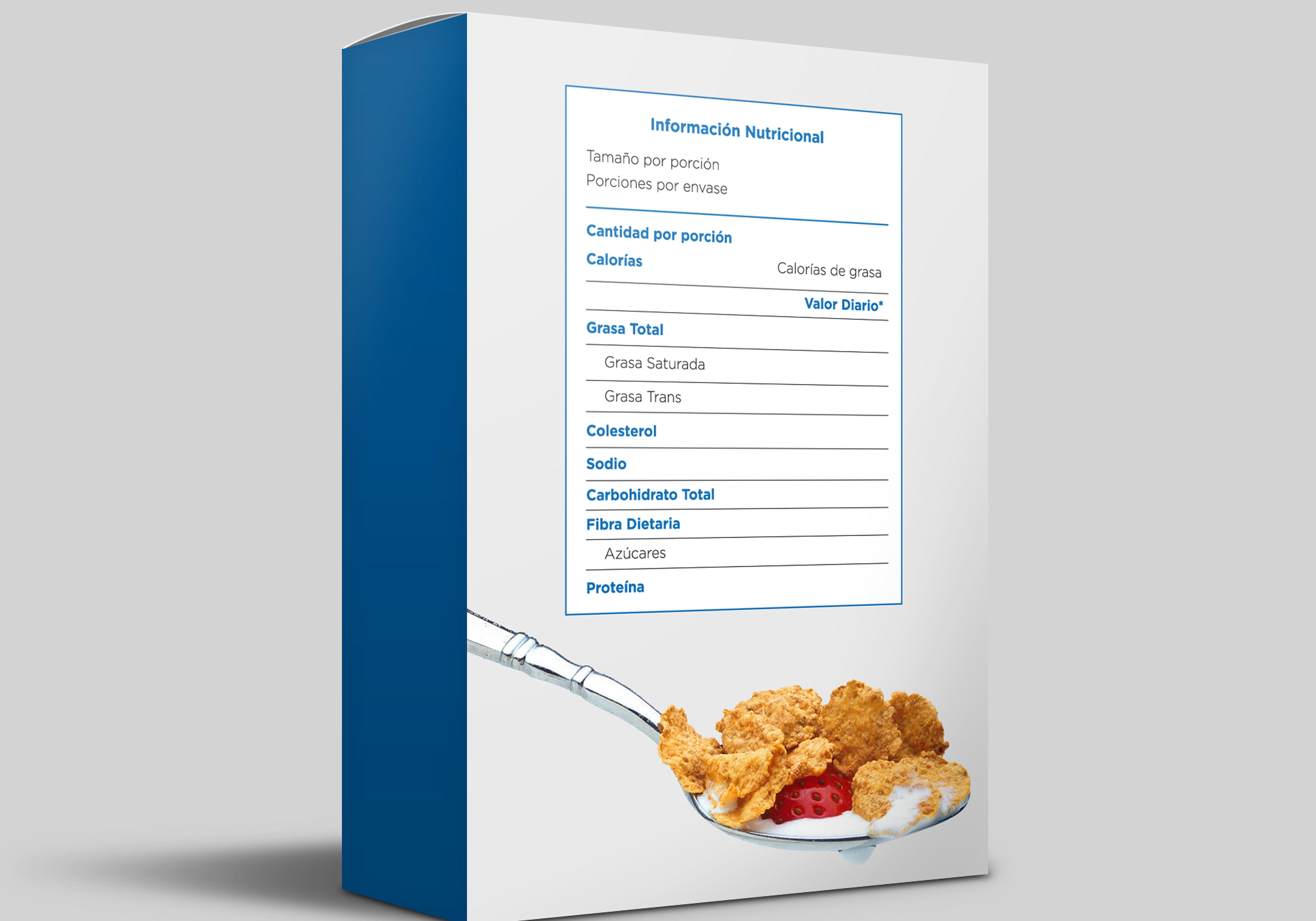 ¿La etiqueta de tu producto debe llevar una tabla nutricional?